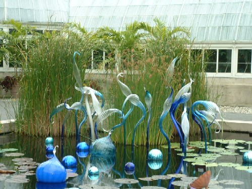 One part of the Chihuly Exhibit at the New York Botanical Gardens, courtesy of Clea!